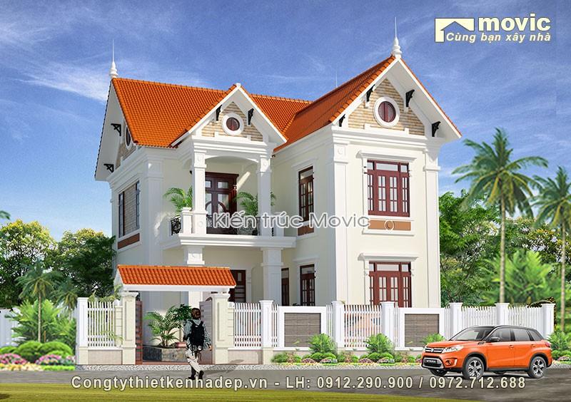 biệt thự chữ L 2 tầng mái Thái