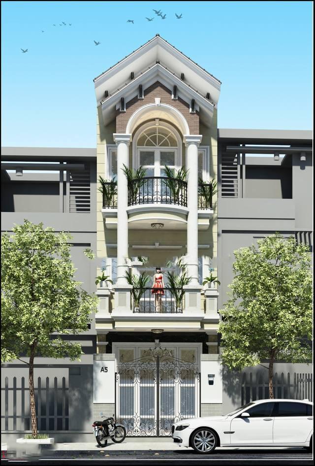 Nhà 3 tầng bán cổ điển trên phố đẹp - MS01