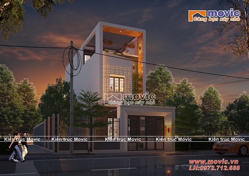 Mẫu thiết kế nhà phố hiện đại 3 tầng MV1848