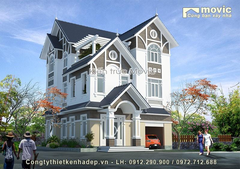 Biệt thự 3 tầng (ông Phong - Hòa Lạc, Hà Nội)