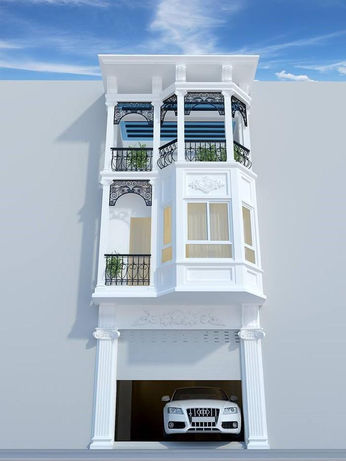 nhà phố bán cổ điển 3 tầng - MS04