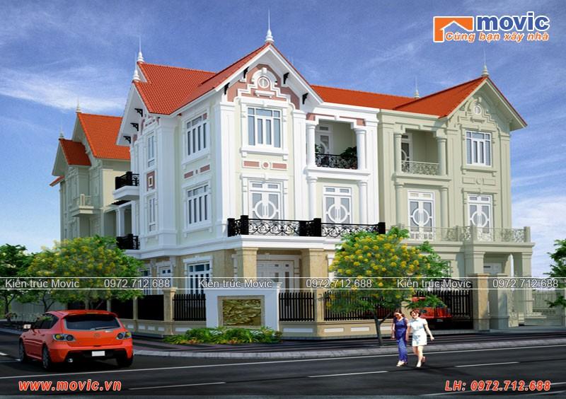 Nhà phố 3 tầng tân cổ điển mái thái 5