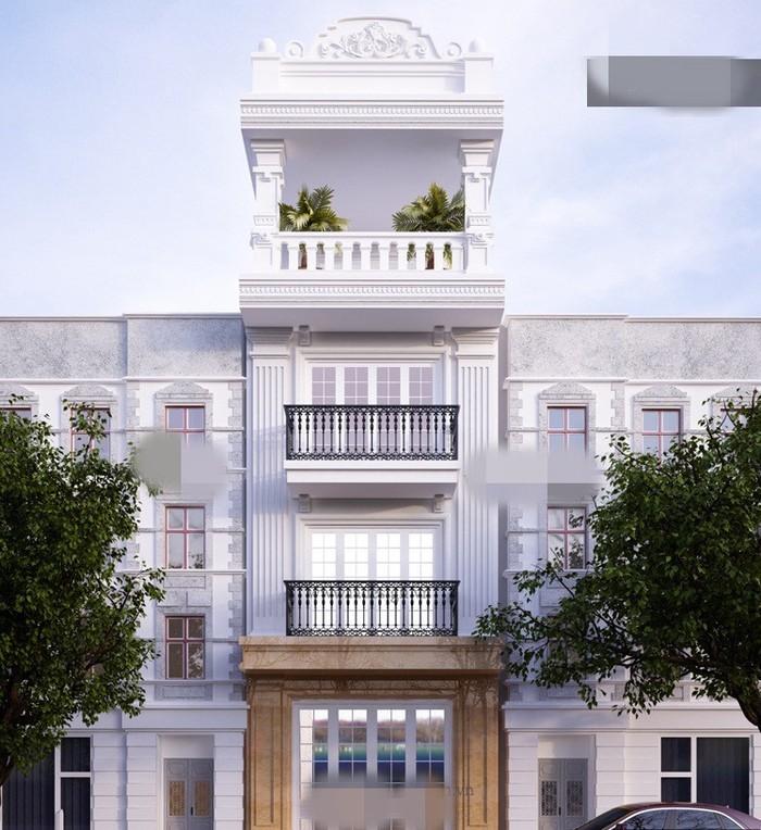 nhà phố 3 tầng 1 tum bán cổ điển - MS05