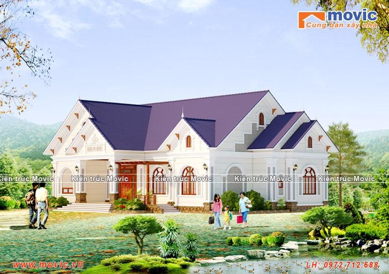 Ngôi nhà là sự kết hợp giữa sự hiện đại và cổ kính