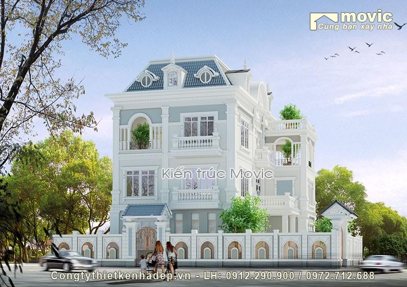 Kiến trúc biệt thự kiểu Pháp không chỉ bề thế, sang trọng bề ngoài mà còn chú trọng vào họa tiết từng chi tiết