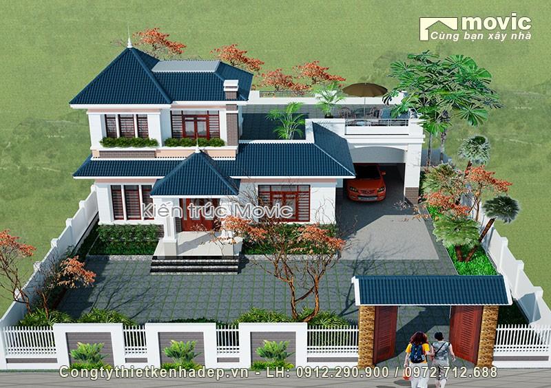 Mẫu biệt thự nhà vườn 2 tầng BT1513