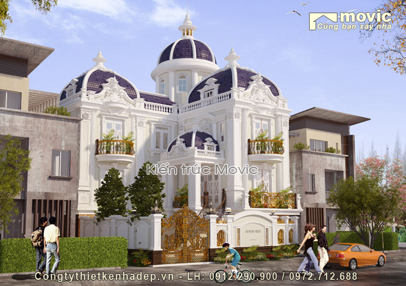 Biệt thự hiện đại 2 tầng, 1 tum (ông Phức - Thường Tín, Hà Nội)