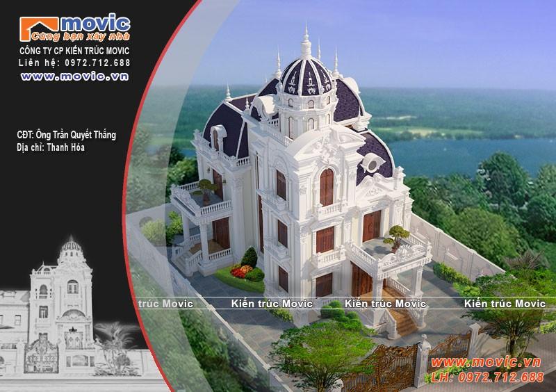 Phong cách thiết kế lâu đài biệt thự