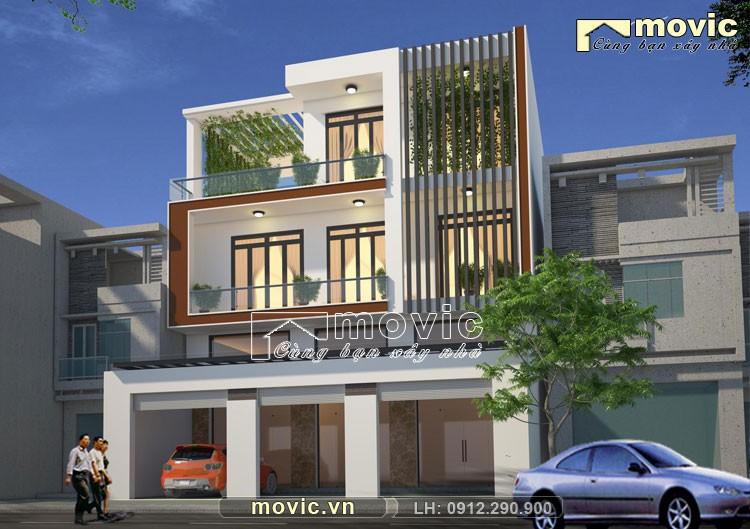 Phối cảnh nhà phố 3 tầng hiện đại LP1514