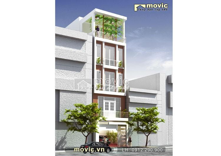 Mẫu nhà phố 5x20m 4 tầng hiện đại