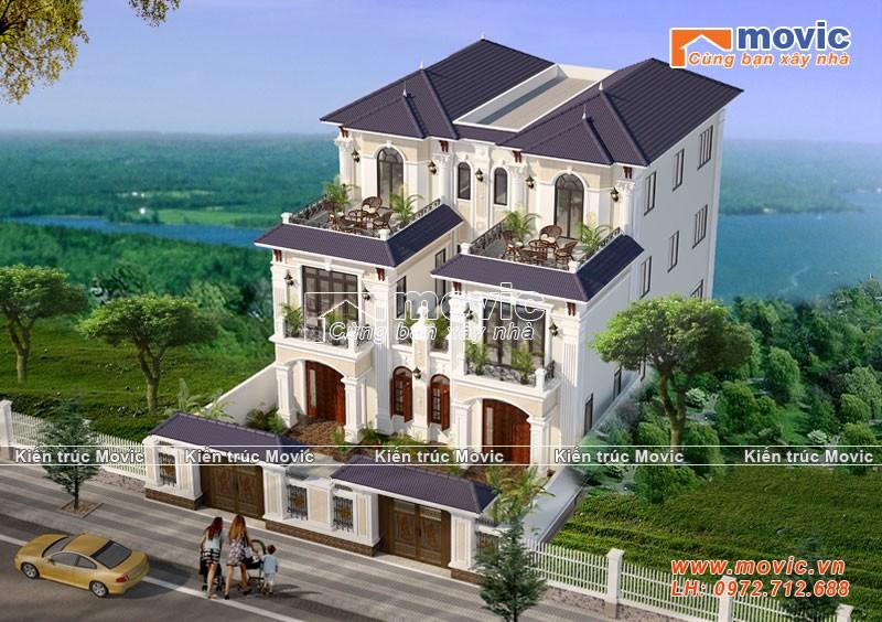 Mẫu biệt thự 3 tầng kiểu Pháp đẹp hoàn hảo trong từng chi tiết