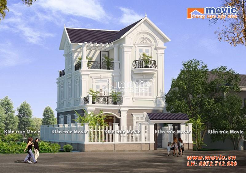 Nhà biệt thự kiểu pháp được thiết kế cho Bác Khang ở Hải Dương