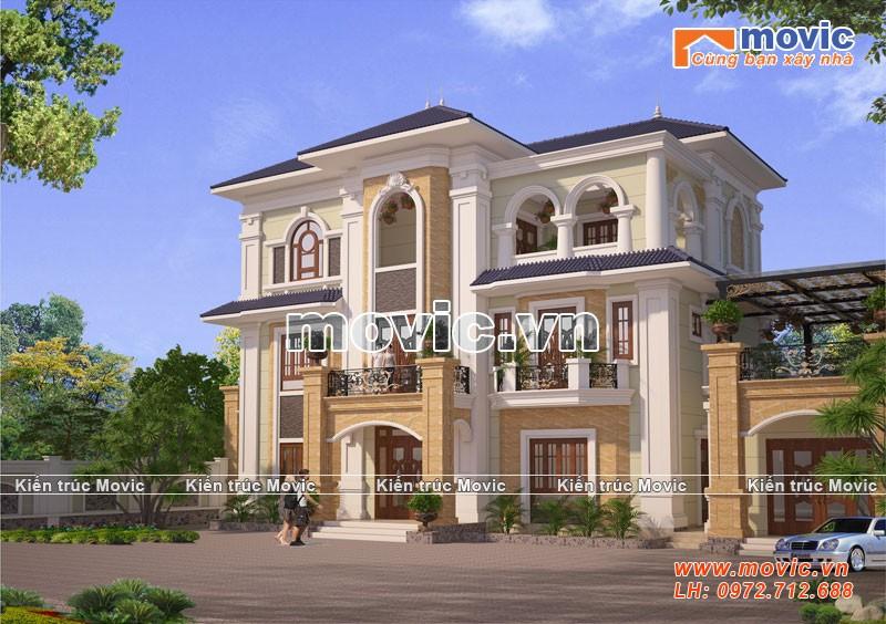 Biệt thự 3 tâng Châu Âu được thiết kế cho Ông Bình ở Thái Nguyên
