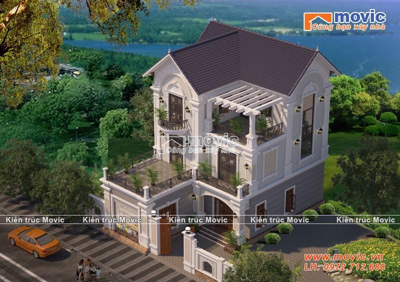 Nhà biệt thự kiểu pháp cổ thiết kế cho Bác Thành ở Nam Định