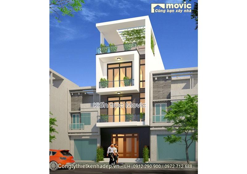 Mẫu thiết kế nhà phố hiện đại LP1605