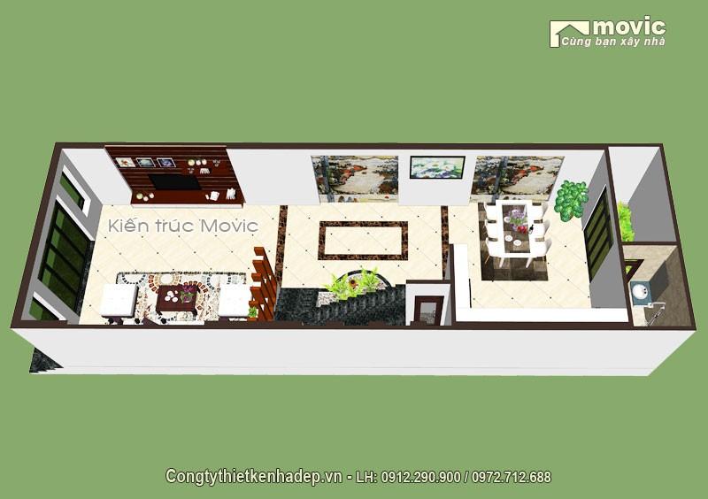 Mặt bằng kiến trúc nội thất mẫu nhà phố LP1605