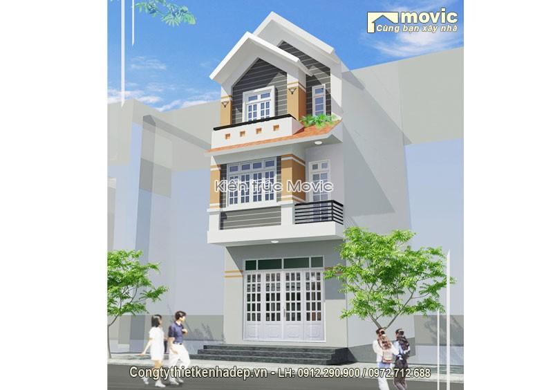 Mẫu thiết kế nhà phố 5x20m 3 tầng hiện đại