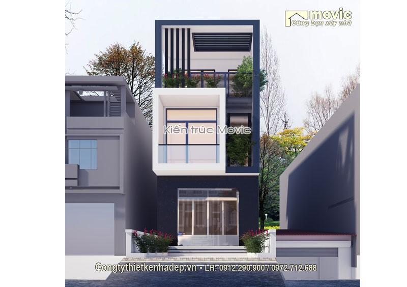 Mẫu thiết kế mặt tiền nhà phố MP1608