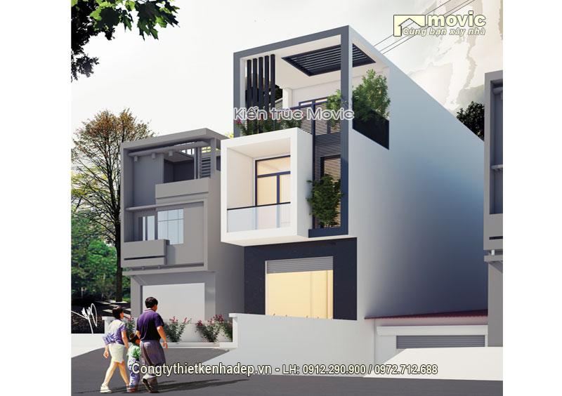 Góc nhìn nghiêm mẫu nhà phố hiện đại MP1608