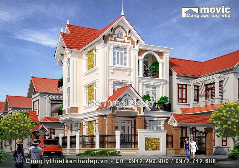 Biệt thự mặt phố 3 tầng (ông Bắc - Gia Lâm, Hà Nội)