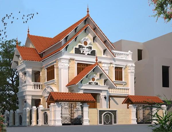 Nhà phố mái thái phong cách cổ điển