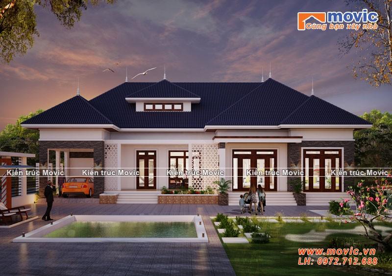 Biệt thự nhà vườn hiện đại phong cách mái Thái