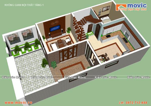 Thiết kế nội thất tầng 1