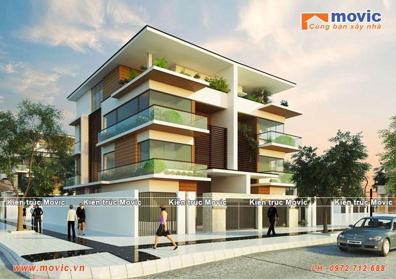 Nhà phố 4 tầng hiện đại BT1531