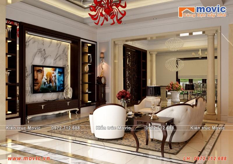 Thiết kế nội thất biệt thự cổ điển đa dạng, tinh tế