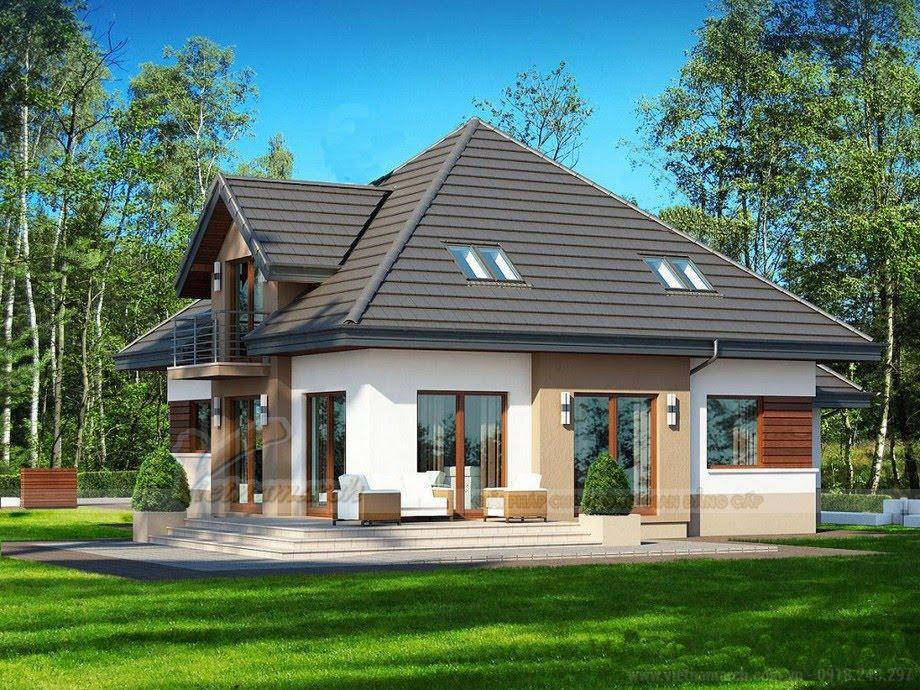 Nhà vườn cấp 4 mái thái hiện đại