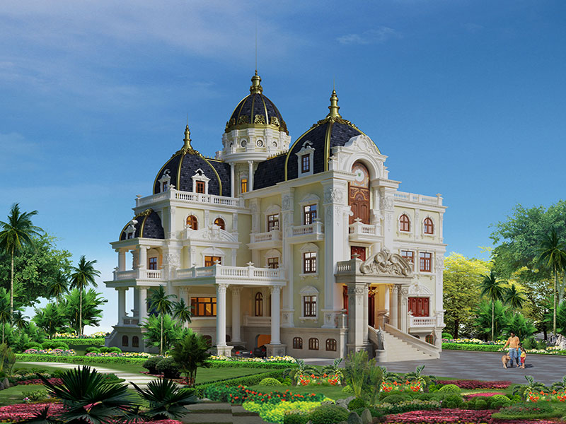 Nhà 3 tầng kiểu Pháp phong cách cung điện