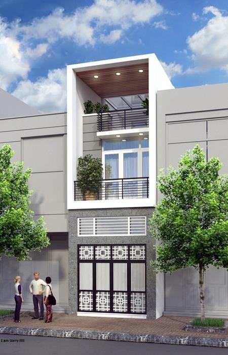 Mẫu thiết kế nhà phố 5x20 hiện đại 2 tầng đẹp