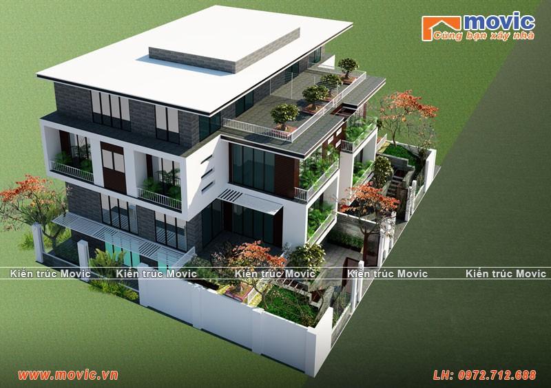 Nhà mặt phố 4 tầng hiện đại MB1509