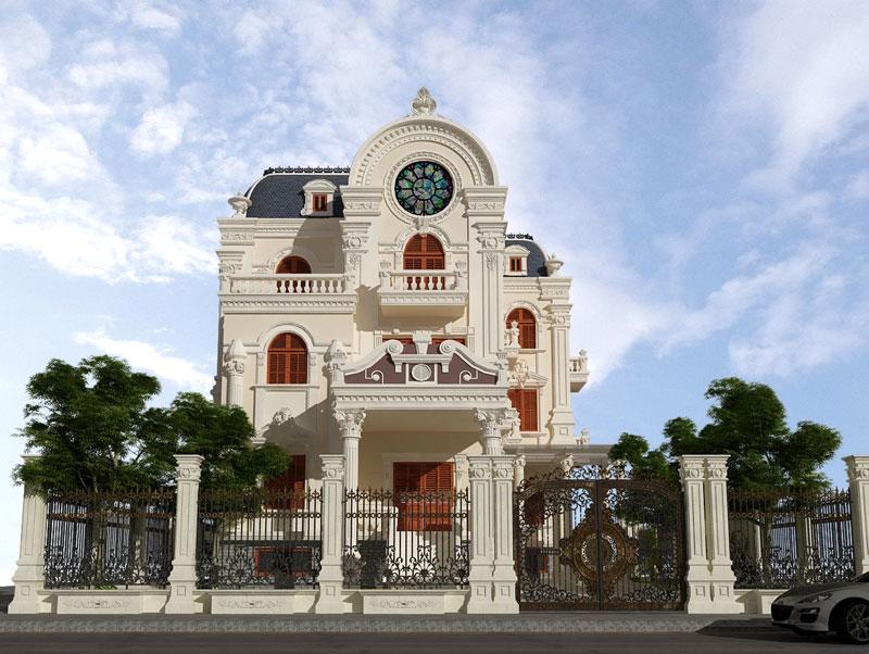 Biệt thự 3 tần kiểu Pháp phong cách lâu đài