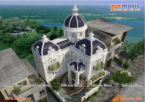Mẫu biệt thự đẹp nhất Việt Nam với kiến trúc cổ điển