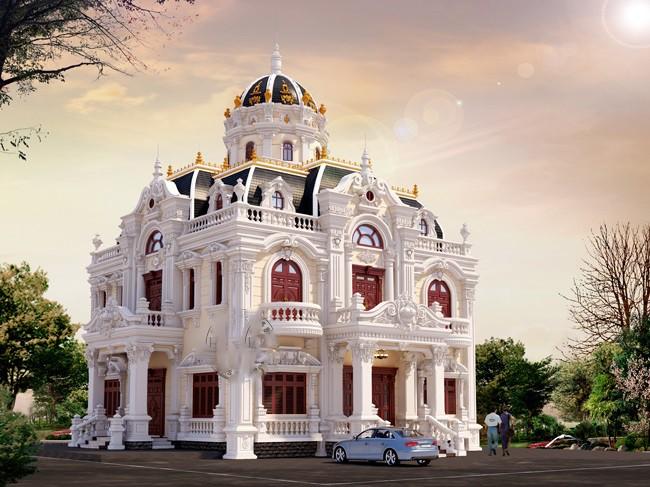 Biệt thự lâu đài pháp phong cách hoàng gia
