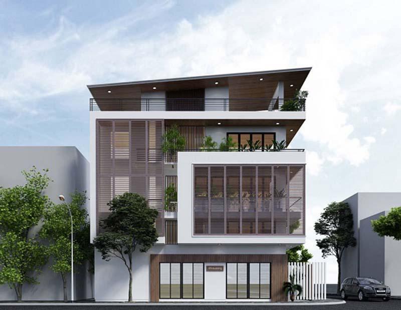 Mẫu nhà phố 3 tầng 1 tum 4x12m hiện đại 2