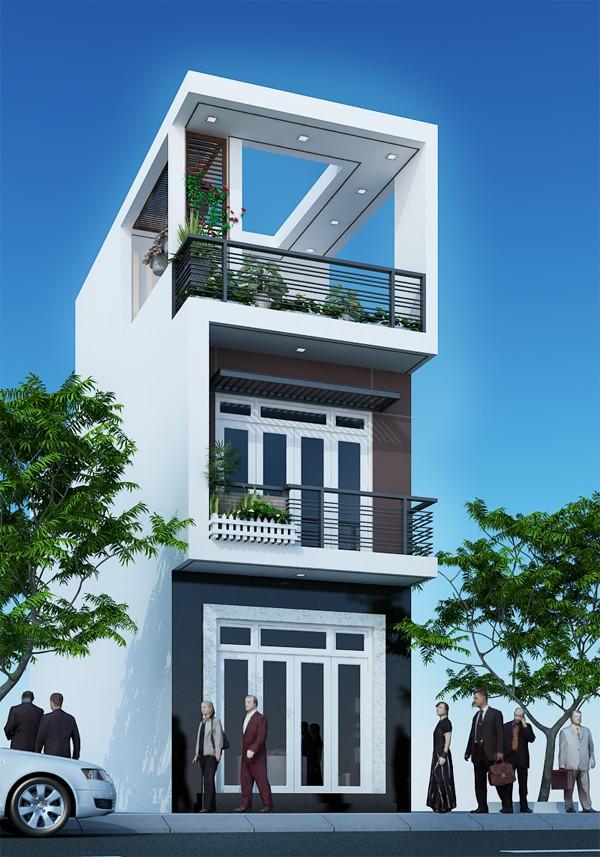 Mẫu nhà phố 3 tầng 4x12m ấn tượng cảnh 1