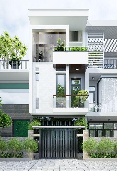 Mặt tiền mẫu nhà phố 3 tầng 4x12m với chi phí 1,2 tỷ