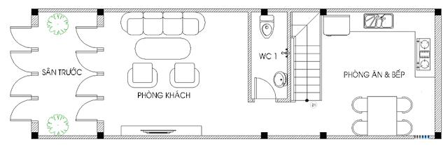 Giải pháp thiết kế tầng 1