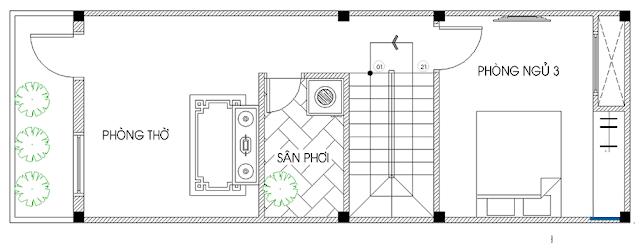 Giải pháp thiết kế tầng 3