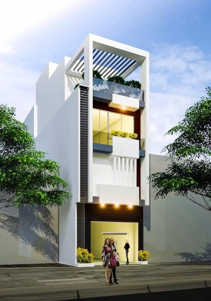 Nhà phố hiện đại mẫu 10