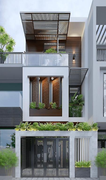 Nhà phố hiện đại mẫu 7