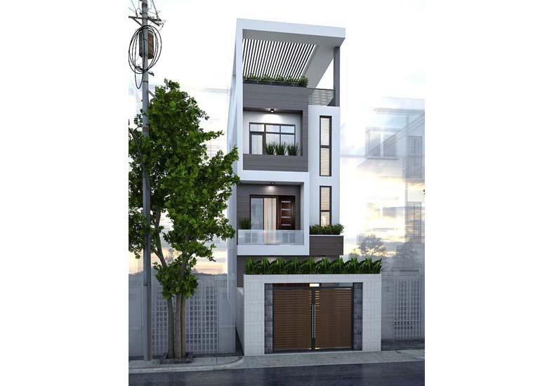 Nhà phố hiện đại mẫu 3