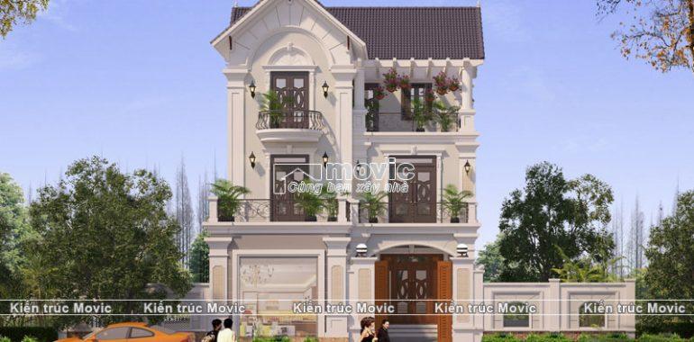 Mẫu nhà 3 tầng mái Thái phong cách Pháp