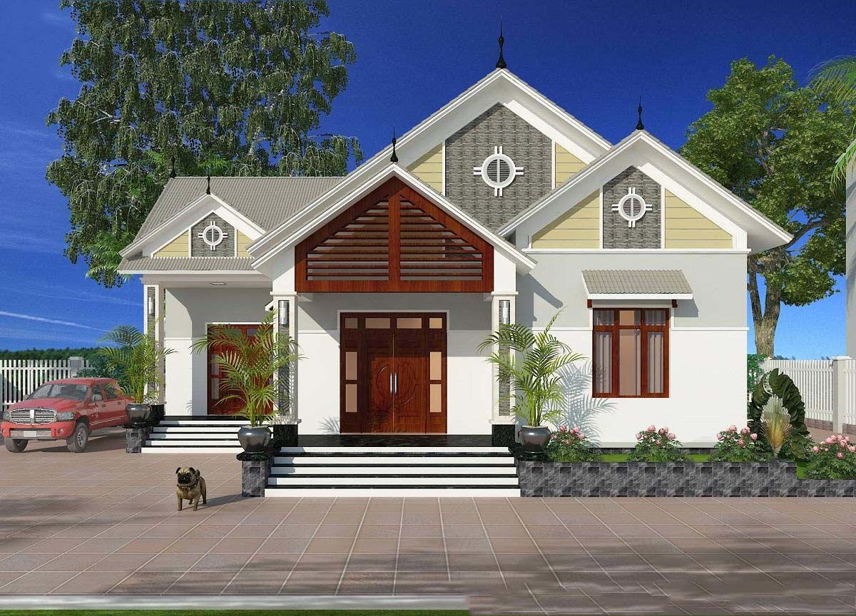 Nhà vườn cấp 4 mái Thái đẹp