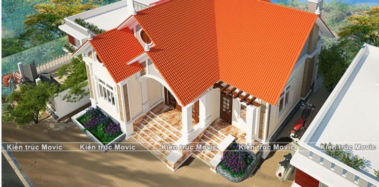 Mẫu nhà được thiết kế đơn giản và rộng rãi