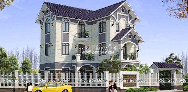 Nhà vườn 3 tầng phong cách mái Thái sang trọng