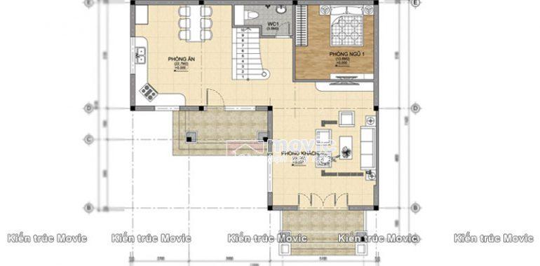 Công năng sử dụng tầng 1 mẫu nhà vườn 3 tầng
