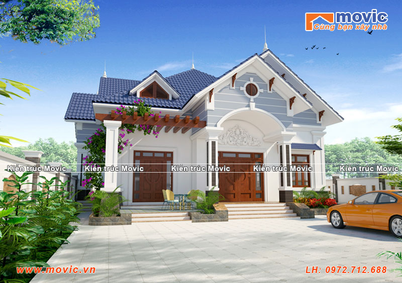 Mẫu nhà biệt thự 1 tầng của Ông Chương tại Hà Nội